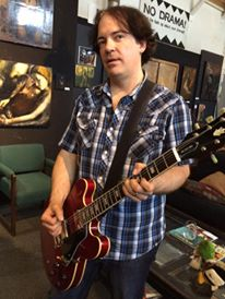 "Jon Auer on set for the ""Unlikely Places"" 360 video shoot"