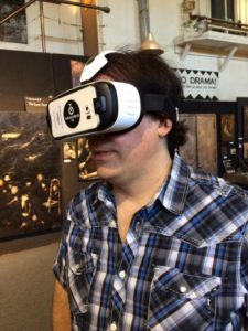 Jon Auer's turn to check out this whole VR thing